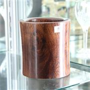 Sale 8351 - Lot 40 - Huanghuali Brush Pot, 16 cm H
