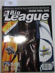 Sale 8404S - Lot 28 - 2005 Big League Grand Final Programme, Oct 2 (Vol.86, No.30), Wests Tigers v North Queensland