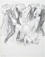 Sale 8427 - Lot 522 - Norman Lindsay (1879 - 1969) - Untitled (c1934) 19 x 19cm (sheet size: 26 x 19.5cm)