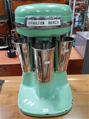 Sale 8476 - Lot 1086 - Hamilton Beach Mint Green Vintage Triple Milkshake Blender - in working order