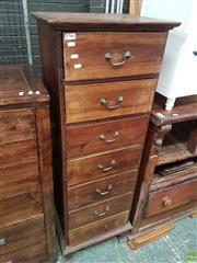 Sale 8585 - Lot 1700 - Tall Slim Timber Chest of Seven Drawers