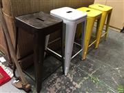Sale 8601 - Lot 1554A - Four Tolix Style Bar Stools