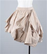 Sale 8685F - Lot 27 - An Emporio Armani nude assymetrical pleated bubble skirt, size TG 38