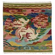 Sale 8911C - Lot 76 - Tibetan Vintage Pictorial Rug, 185x185cm, Tibetan Highland Wool