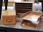Sale 8934 - Lot 1036 - Three Varied Timber Desk Tidies