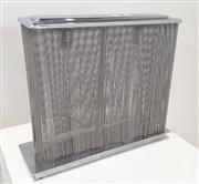 Sale 9071 - Lot 1066 - Chrome Table Lamp with Tassels (h:33 x w:37 x d:9cm)