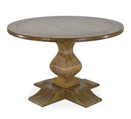 Sale 9250T - Lot 43 - A solid fruitwood round pedestal table on quadraform base. Height 77cm x Width 120cm x Depth 120cm