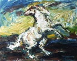Sale 9249A - Lot 5040 - SALVATORE ZOFREA (1946 - ) Horse oil on canvas 59.5 x 75 cm (frame: 72 x 87.5 cm) signed