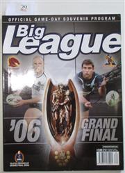 Sale 8404S - Lot 29 - 2006 Big League Grand Final Programme, Oct 21 (Vol.87, No.30), Melbourne v Brisbane