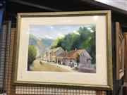 Sale 8707 - Lot 2040 - Dianna Robinson - European Afternoon watercolour, 65 x 84cm (frame size), signed lower right
