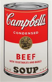 Sale 8738A - Lot 5096 - Andy Warhol (1928 - 1987) - Campbell Soup 87.5 x 56.5cm (frame: 105 x 74cm)