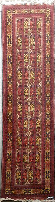 Sale 8777 - Lot 1077 - Afghan Hall Runner (290 x 80cm)
