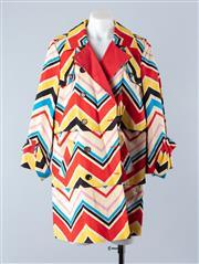 Sale 8800F - Lot 50 - A Diane Von Furstenburg printed cotton blend mac, size 12