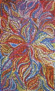 Sale 8947 - Lot 520 - Rosemary (Pitjara) Petyarre (c1965 - ) - Yam Leaf Dreaming 157 x 95 cm