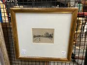 Sale 8924 - Lot 2031 - Victor Cobb - Wilson Hall, Melbourne Universityetching, 32  x 35cm (frame)