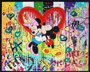 Sale 9009A - Lot 5039 - Nastya Rovenskaya - Minnie and Mickey 61 x 77 cm (frame: 64 x 80 x 5 cm)