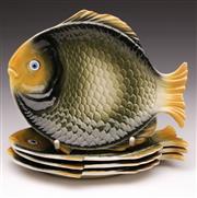 Sale 9078 - Lot 201 - A Set of Ceramic Fish Form Dishes (L 21cm)