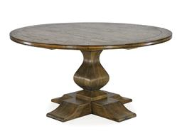 Sale 9250T - Lot 44 - A solid fruitwood round pedestal table. Top features varied width plank board effect with a worn look. Height 77cm x Width 152cm x D...