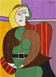 Sale 8309A - Lot 28 - Pablo Picasso (1881 - 1973) - Femme Assisse dans un fauteuil rouge 170 x 130cm