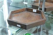 Sale 8360 - Lot 62 - Huanghuali Hexagonal Shaped Scholars Tray - 24cm W