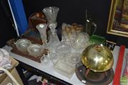Sale 8509 - Lot 2354 - Collection of Sundries incl. Crystal & Glass wares, Treen, Metal Cash Box, etc