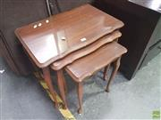 Sale 8620 - Lot 1032 - Nest of 3 Tables