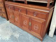 Sale 8700 - Lot 1010 - Chinese Rosewood Sideboard with Three Drawers & Four Doors