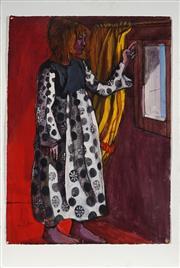 Sale 8990 - Lot 2094 - John Bell (1938 - ) - Liz, 1967 77.5 x 54 cm (total: 92 x 61 x 4 cm)
