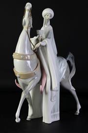 Sale 8989 - Lot 74 - Lladro Espana Arabian on Steed Figure (H39.5cm)