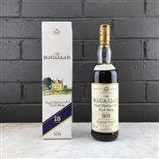 Sale 9079W - Lot 838 - 1979 The Macallan Distillers 18YO Sherry Oak Single Highland Malt Scotch Whisky - bottled 1997, 43% ABV, 700ml in box