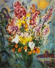 Sale 9080A - Lot 5045 - Marc Chagall (1887 - 1985) - Floral Bouquet 69 x 56 cm (sheet: 81 x 66 cm)