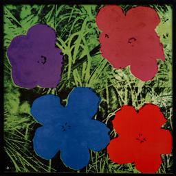 Sale 9150J - Lot 98 - ANDY WARHOL (1928 - 1987) Flowers screenprint on glazed ceramic, ed. 1/49 49 x 49 cm signed lower right. Rosenthal Certificate of au...