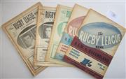 Sale 8404S - Lot 31 - 1960 Rugby League News Programmes - Vol. 41, Nos. 8, 9, 13, 16, 17, 18 (Australia v France)
