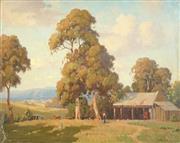 Sale 8467 - Lot 570 - Erik Langker (1898 - 1982) - Farmstead 69.5 x 90cm