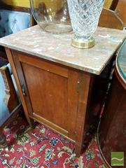 Sale 8465 - Lot 1031 - Marble Top Bedside
