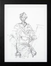 Sale 8592A - Lot 5094 - Alberto Giacometti (1901 - 1966) - Seated Woman 35.5 x 25cm