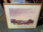 Sale 8659 - Lot 2069 - Lorraine James - Dawn, Watercolour, SLR