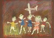 Sale 8791A - Lot 5061 - Geoffrey Proud (1946 - ) - Spooky Green Children, 2000 49 x 69cm