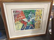 Sale 8707 - Lot 2053A - Chagall - Circus Horse and Rider, coloured lithograph 198/200