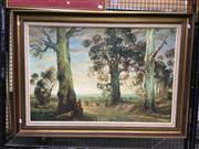 Sale 8752 - Lot 2032 - Jaek Arrowsmith - The Battler oil on canvas on board, 76.5 x 107cm, signed lower right
