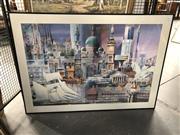 Sale 8789 - Lot 2148 - Charles Billich Decorative Print, unsigned, 94.5 x 132cm