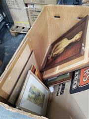 Sale 8978 - Lot 2091 - Collection of (12) Decorative Prints incl. William Dobell Sofala & The Strapper plus Conrad Martens (2), Dutch Still Life print,...