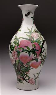 Sale 9078 - Lot 182 - A Peach Themed Chinese Vase H: 44cm