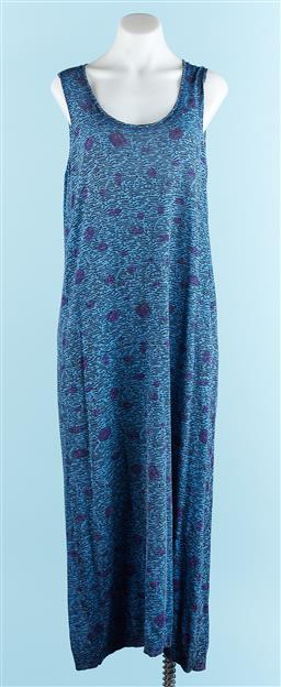 Sale 9091F - Lot 76 - A KENZO PARIS BLUE COTTON DRESS; size XL