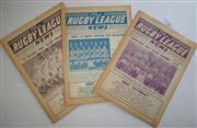 Sale 8404S - Lot 32 - 1961 Rugby League News Programmes - Vol. 42, Nos. 7, 18 & 19
