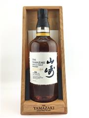 Sale 8439 - Lot 712 - 1x 2017 The Yamazaki Distillery 18YO Mizunara Single Malt Japanese Whisky - edition of only 5000 globally, 700ml, 48% ABV, in timb...