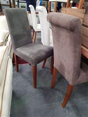 Sale 8672 - Lot 1078 - Pair of Fabric Dining Chairs