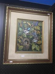 Sale 8707 - Lot 2006 - William Golding - Nest in Blackberry Bush oil on canvas, 37 x 25cm, signed lower left