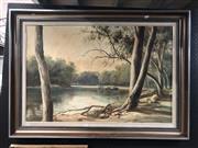 Sale 8784 - Lot 2069 - J Hansen - The Murray River, 1984 60 x 90.5cm
