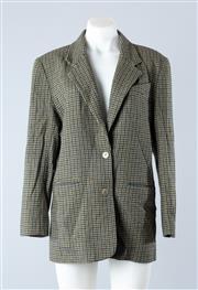 Sale 8800F - Lot 65 - A Laura Ashley plaid blazer, size 10